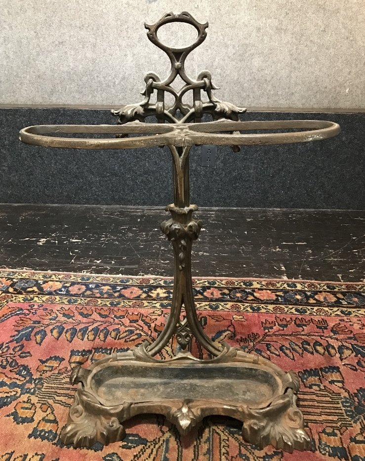 Cast iron umbrella stand, c.1900