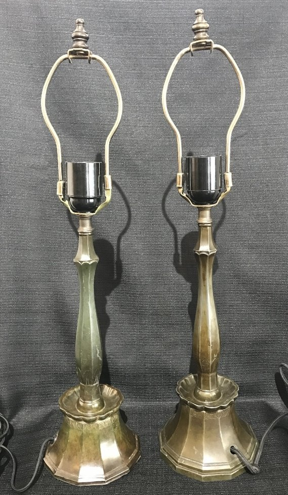 Pair of Just Andersen lamps