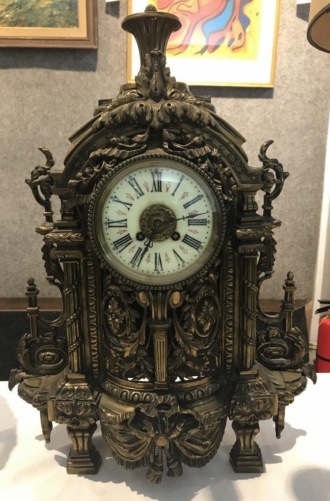 Bronze clock as-is, c.1900