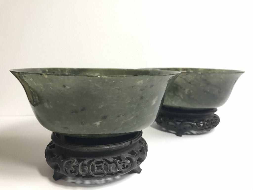 Pair of jade bowls, c.1940