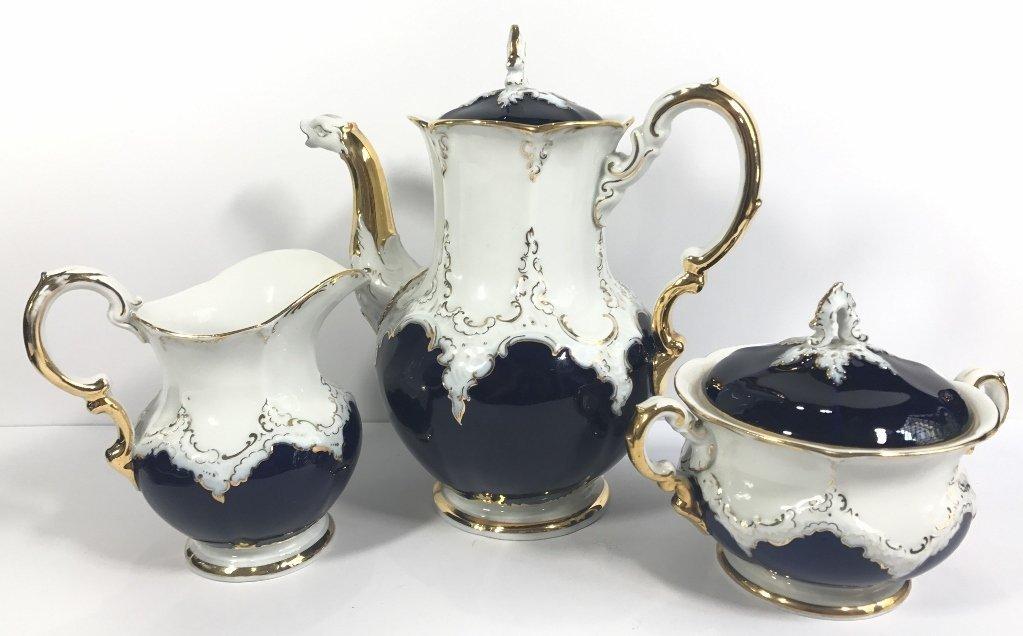 Meissen 3 piece coffee set, c.1900