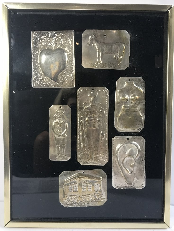 Framed metal tags-South American