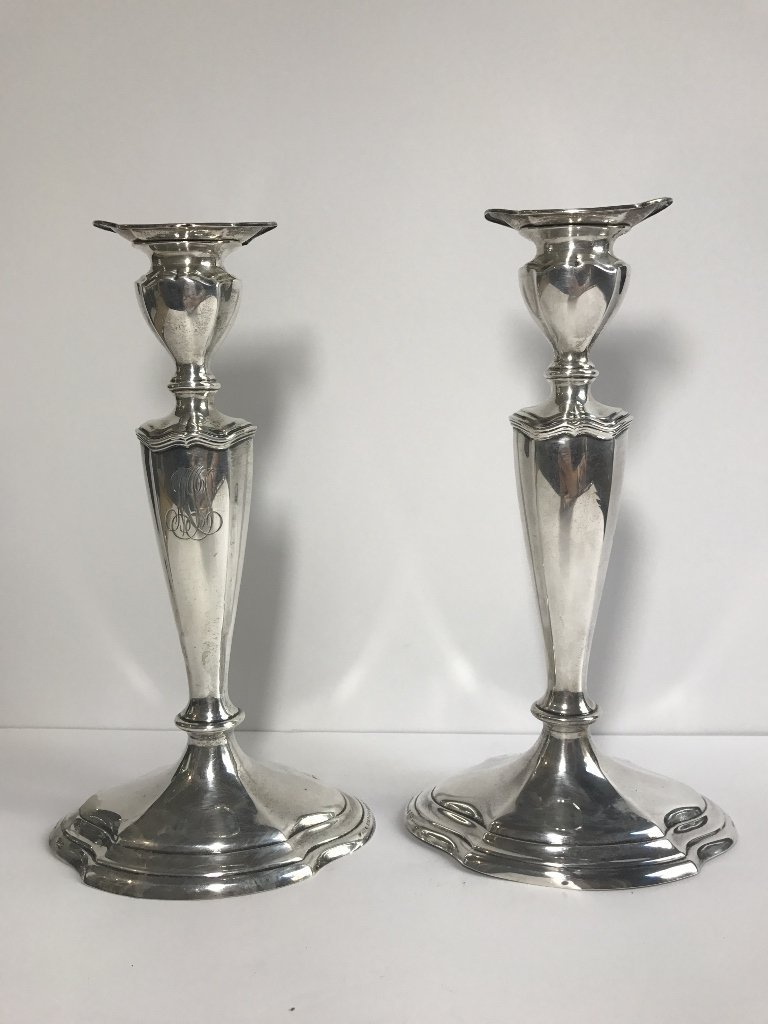 Pair of sterling silver American sticks