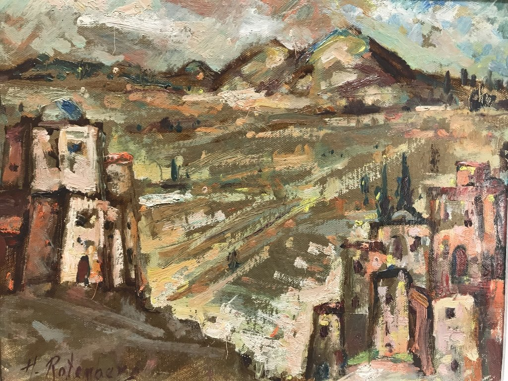 """Painting of """"Holy City"""" by Harold Rotenberg"""
