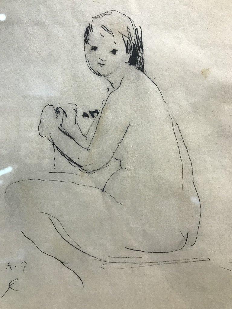 Study female by Anne Goldthwaite(1875-1944)
