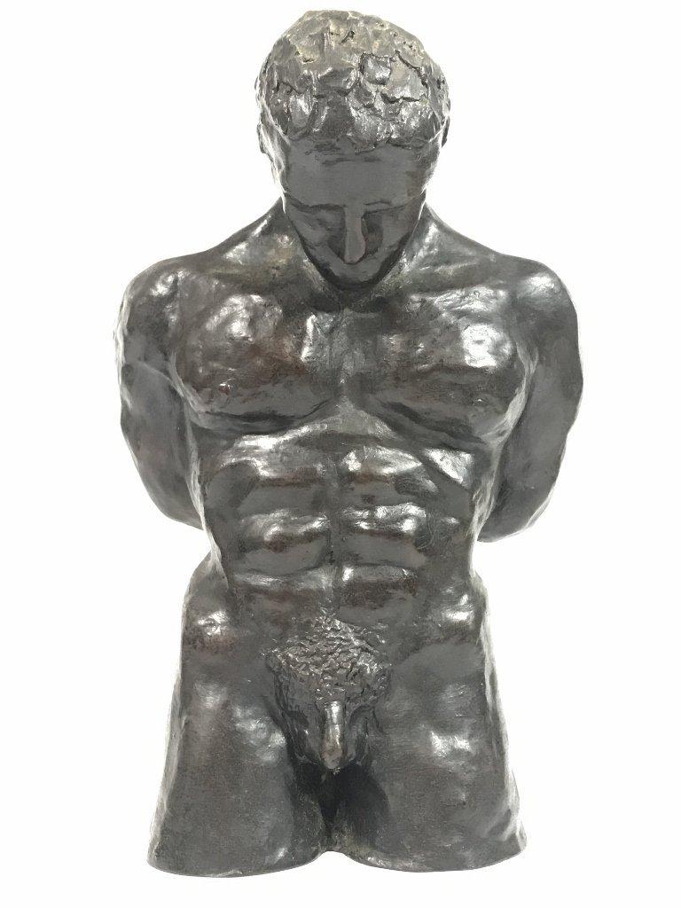 Bronze of sex slave by John Bray(20th century)