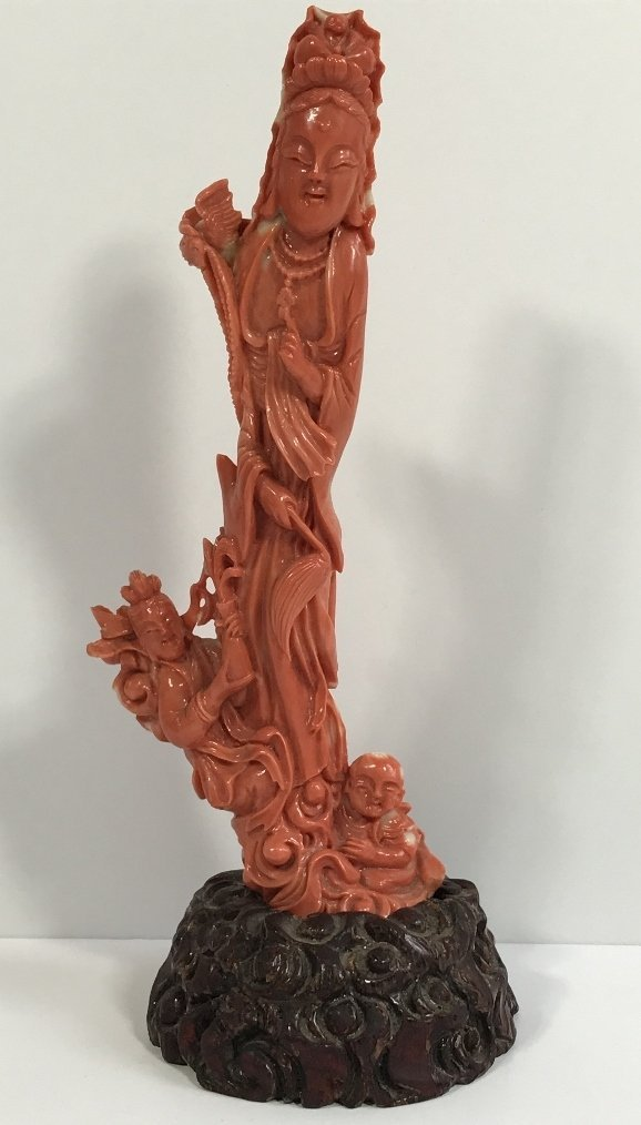 Chinese coral carving, c.1900