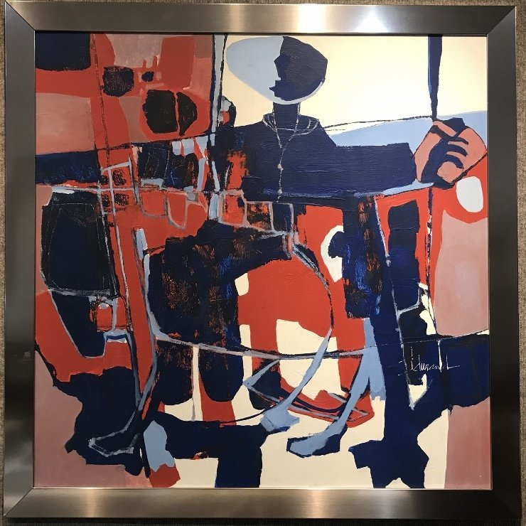 Large abstract painting by J.Durand