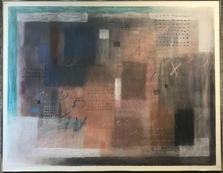 Abstract pastel by Sherry Schrut, circa 1975