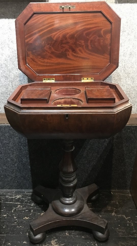 Mahogany tea stand, c.1850