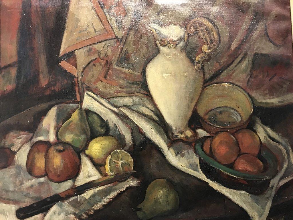 Painting by Leon W.Quanchi(American), circa 1945 - 2
