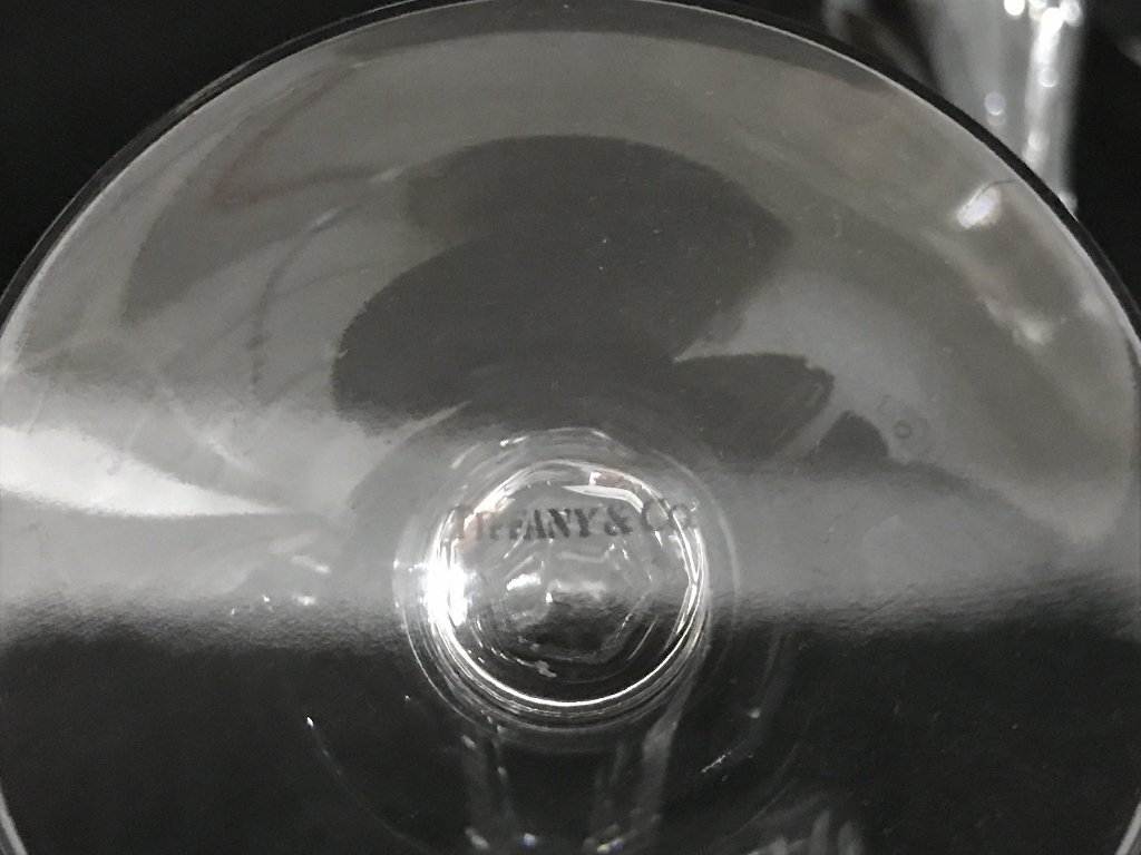 Seven Tiffany crystal wine glasses - 3