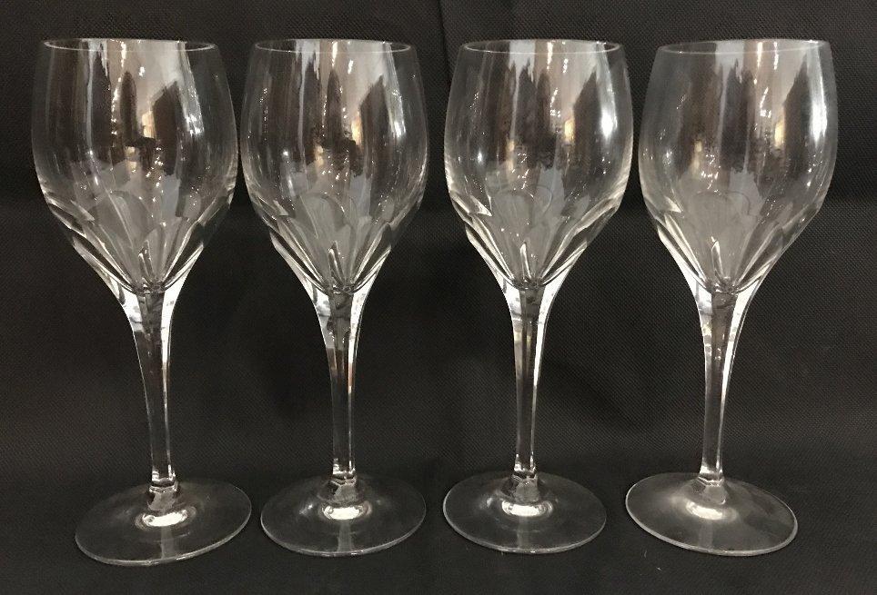 Seven Tiffany crystal wine glasses - 4