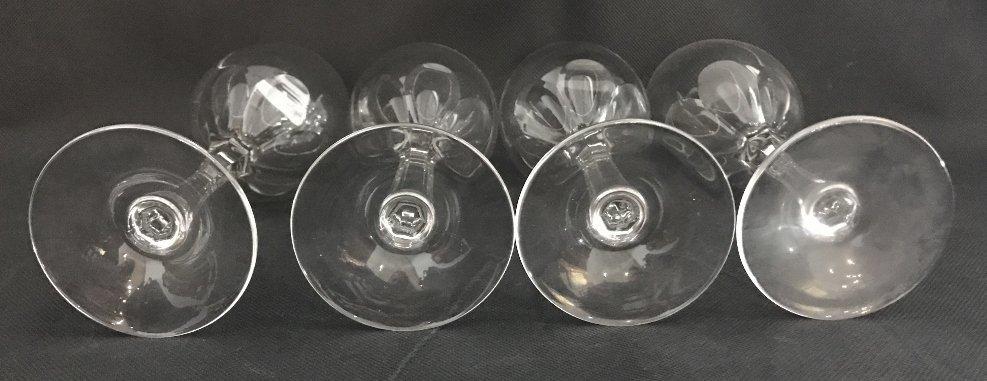 Seven Tiffany crystal wine glasses - 5