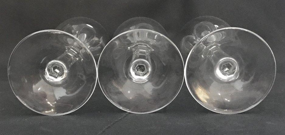 Seven Tiffany crystal wine glasses - 7