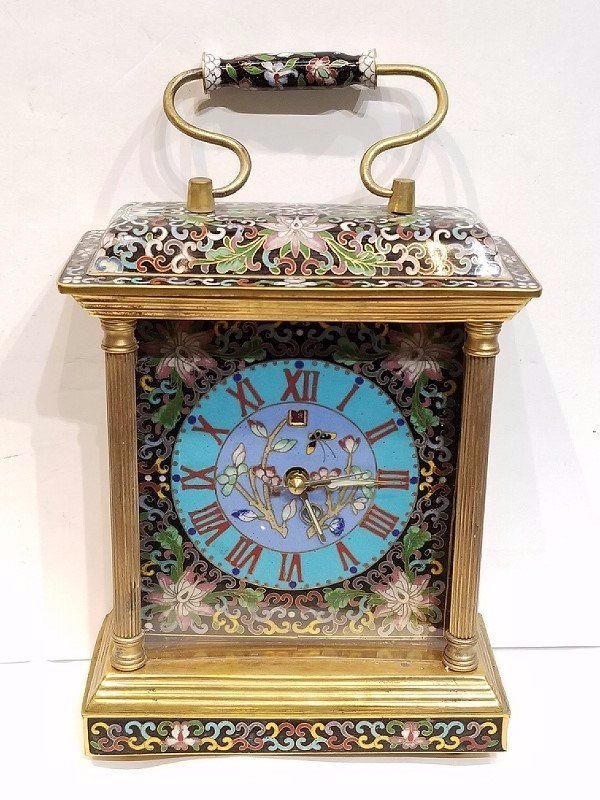Chinese cloisonne clock-not working