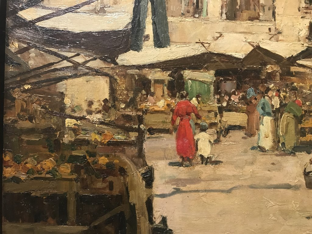 Painting of Italian village by Gustavo Pisani, 19th cen - 5