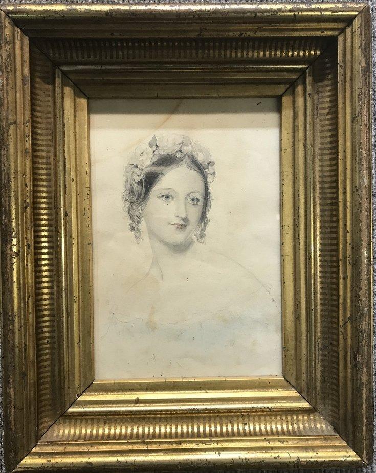 Austrian woman watercolor by Franz Alt(19th c)
