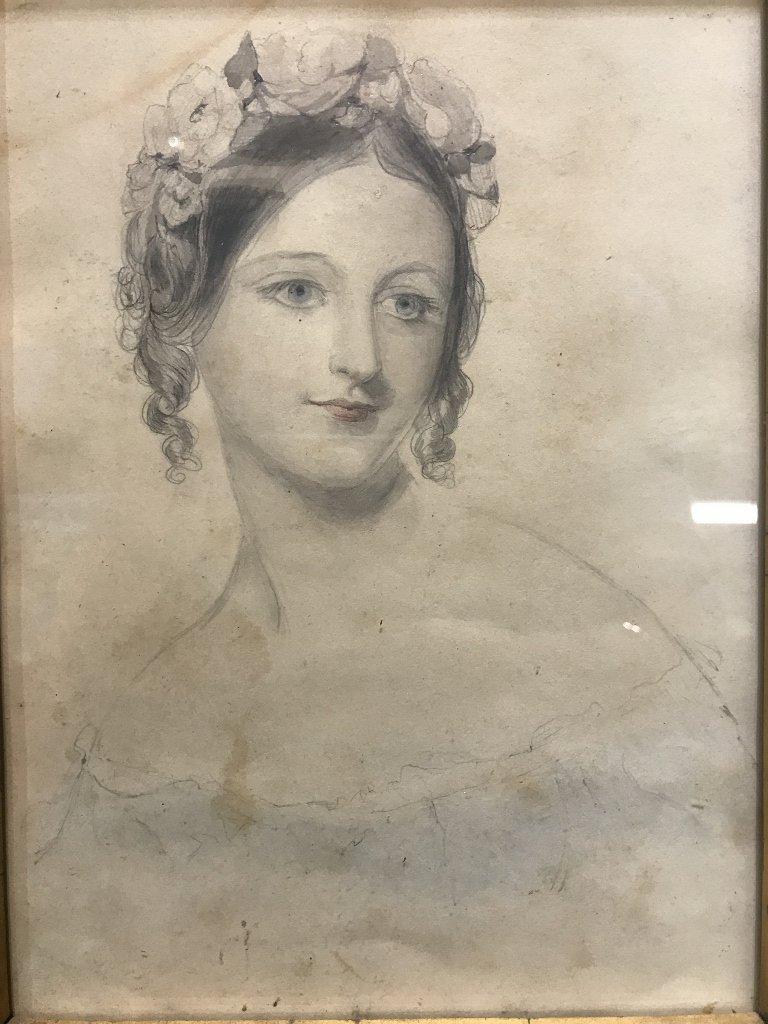 Austrian woman watercolor by Franz Alt(19th c) - 2