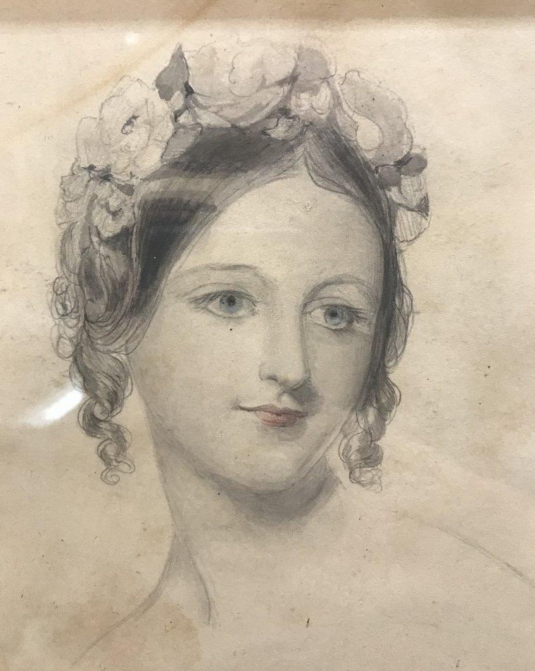 Austrian woman watercolor by Franz Alt(19th c) - 3