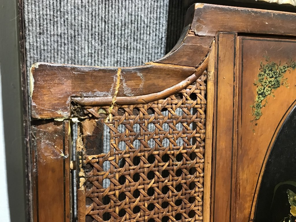 Pair of Adams style chairs with caning, as-is - 8