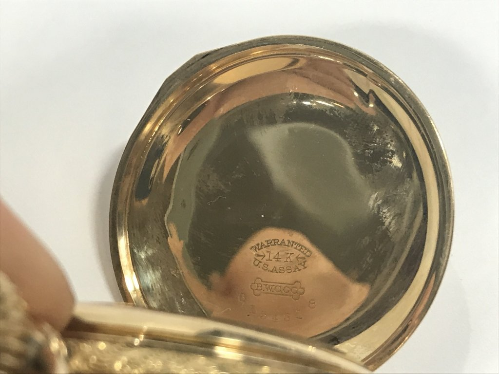 14k gold American pocket watch-47.8 dwts - 5