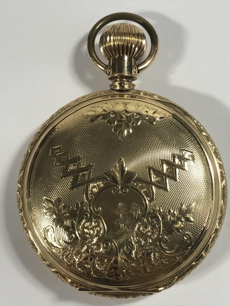 14k gold American pocket watch-47.8 dwts - 6