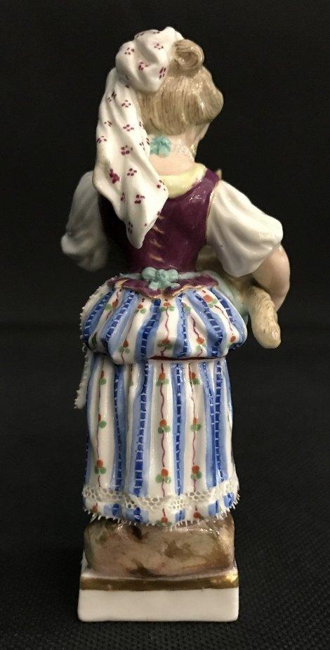Meissen girl holding lamb, c.1900 - 4