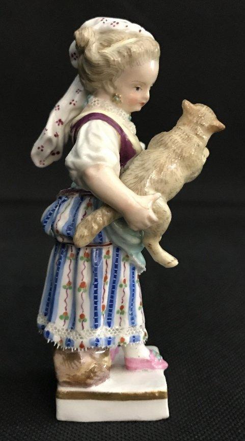 Meissen girl holding lamb, c.1900 - 5