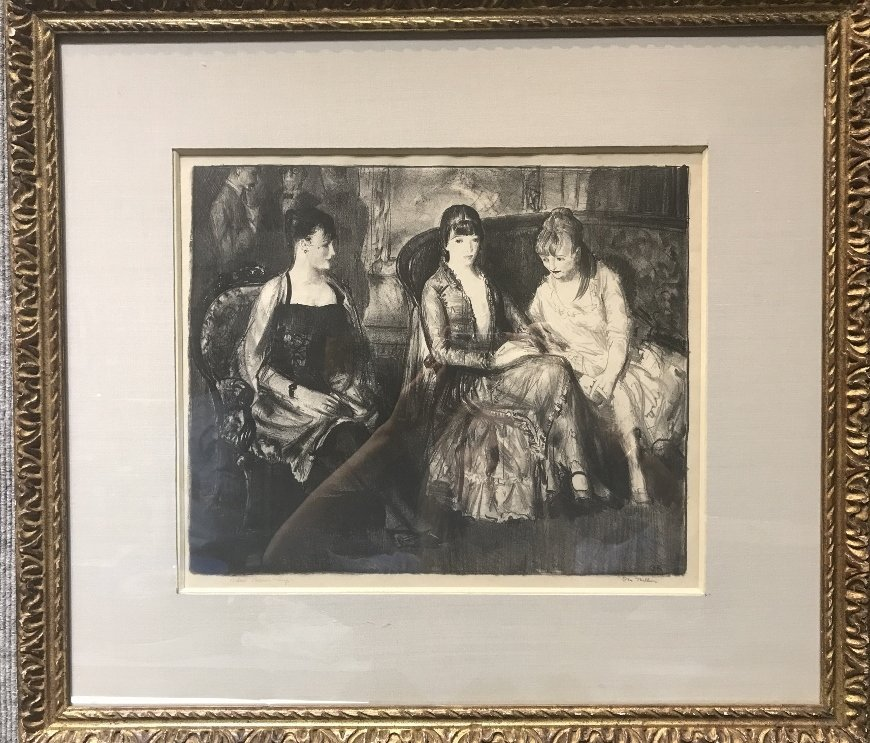 George Bellows litho Marjorie,Emma  & Elsie(2nd stone)