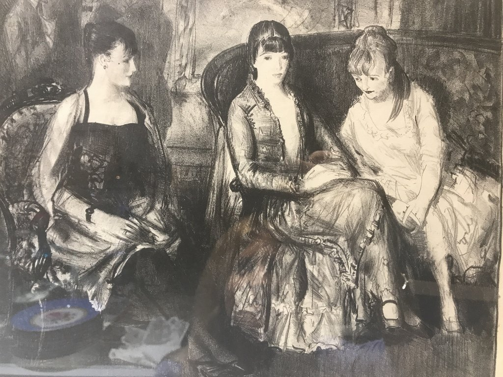 George Bellows litho Marjorie,Emma  & Elsie(2nd stone) - 4