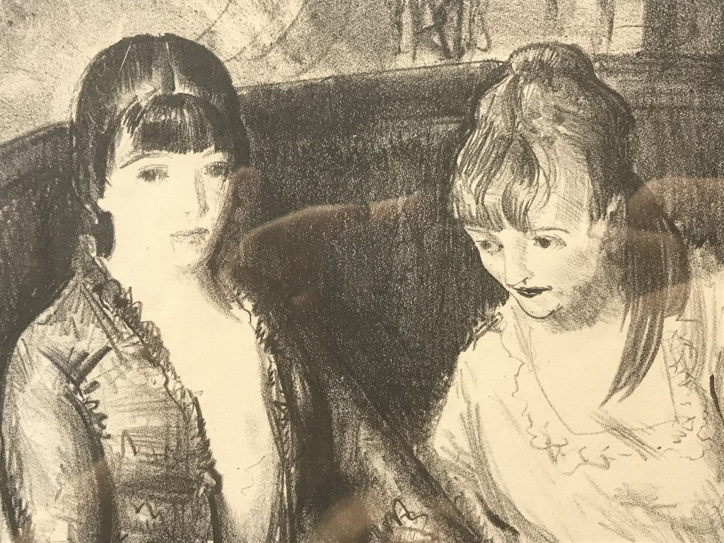 George Bellows litho Marjorie,Emma  & Elsie(2nd stone) - 5