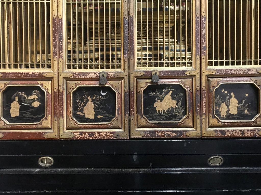 Magnificent Japanese Buddha shrine, c.1900 - 5