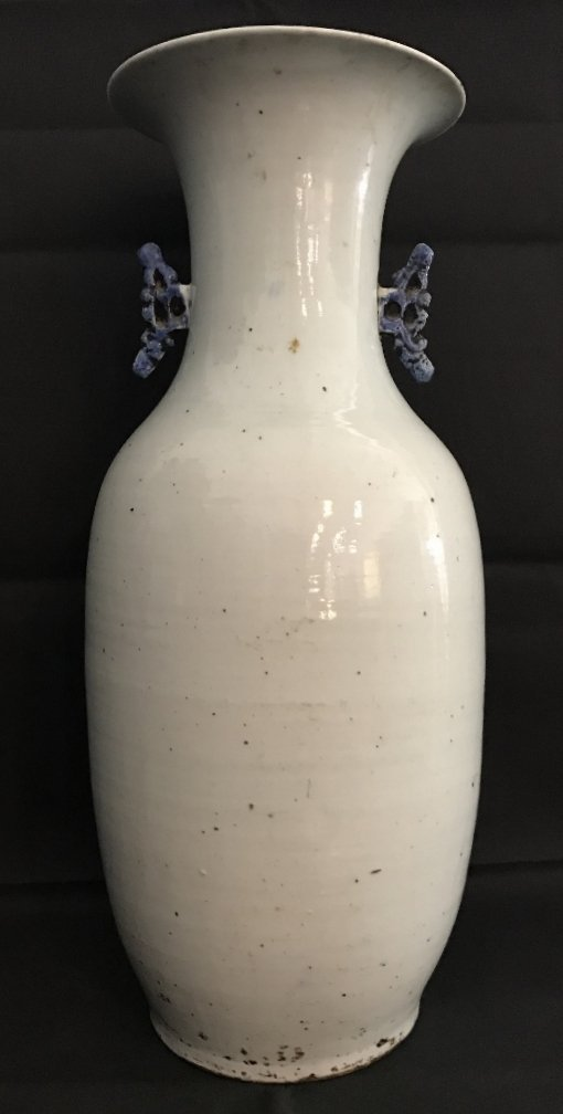 Large Chinese blue and white vase, flowers, c.1900 - 3