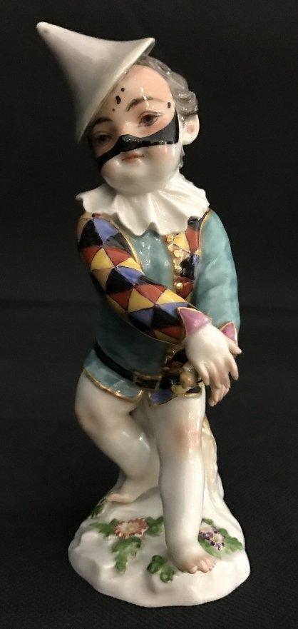 Meissen boy harlequin figurine, c.1900