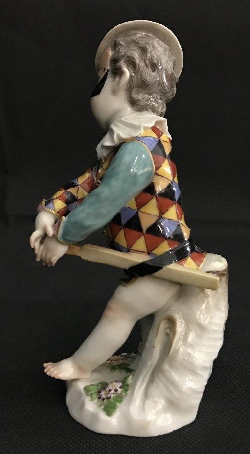 Meissen boy harlequin figurine, c.1900 - 4