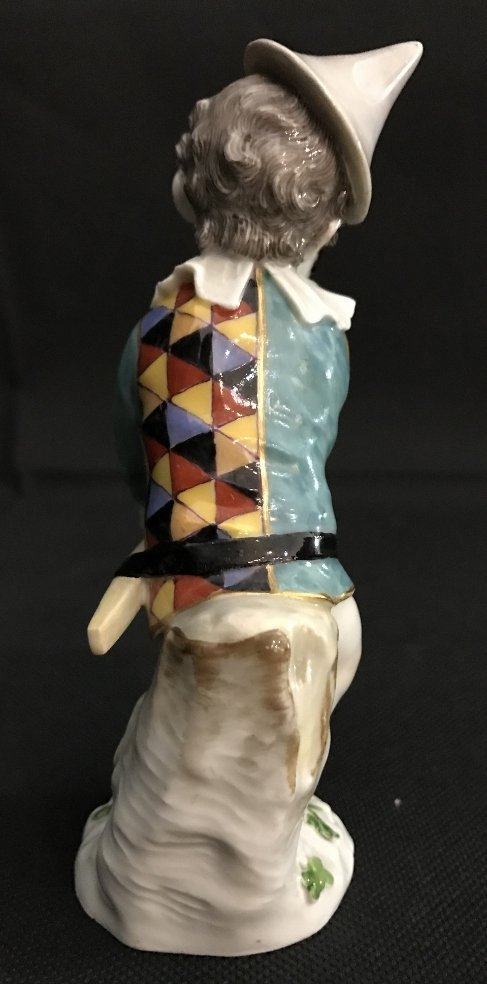 Meissen boy harlequin figurine, c.1900 - 5