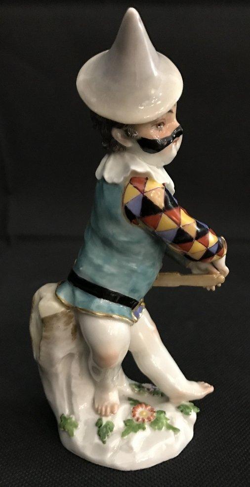 Meissen boy harlequin figurine, c.1900 - 6
