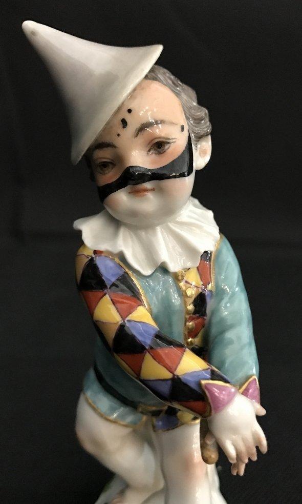 Meissen boy harlequin figurine, c.1900 - 7