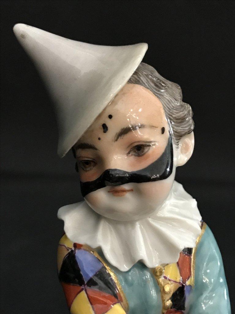 Meissen boy harlequin figurine, c.1900 - 9