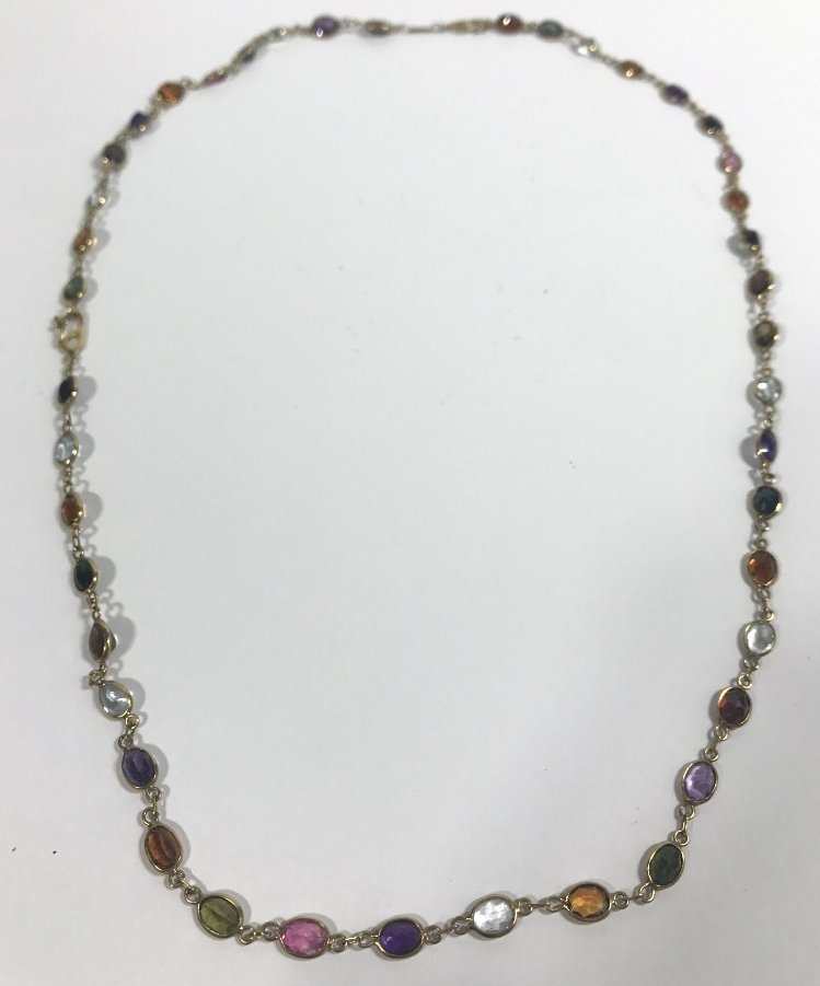 18k and colored stone necklace