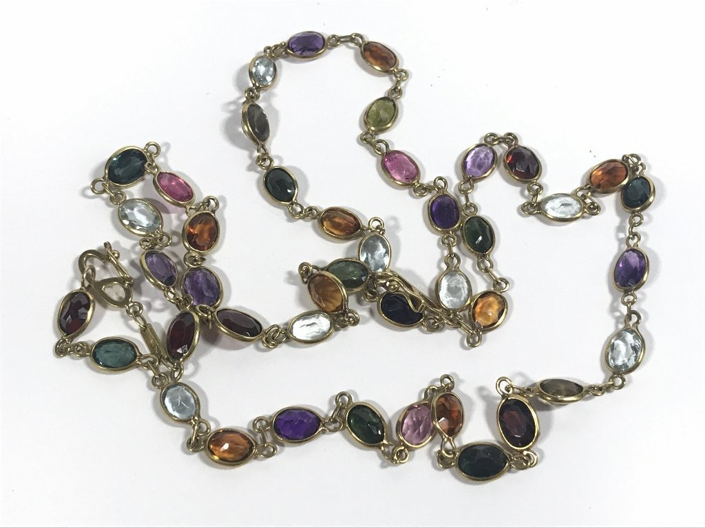 18k and colored stone necklace - 2