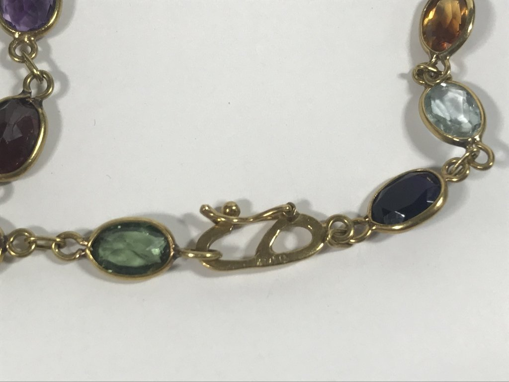 18k and colored stone necklace - 3