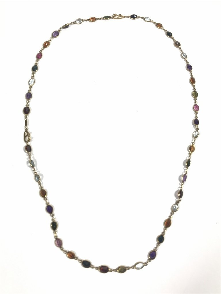18k and colored stone necklace - 4