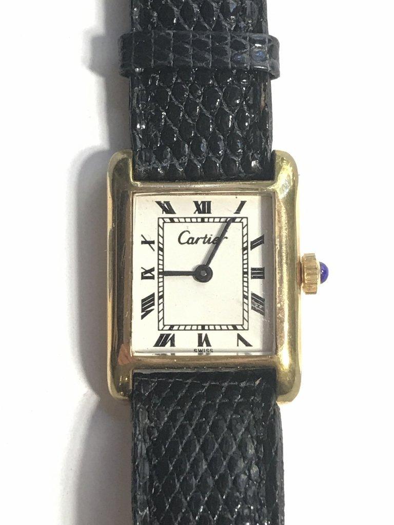 Cartier gold plated wristwatch