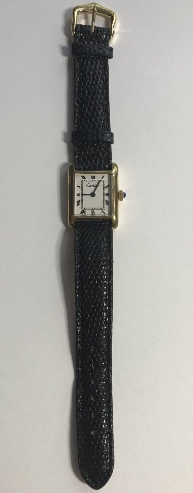 Cartier gold plated wristwatch - 2