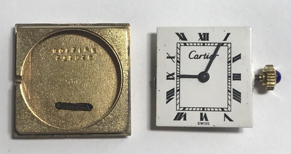 Cartier gold plated wristwatch - 3