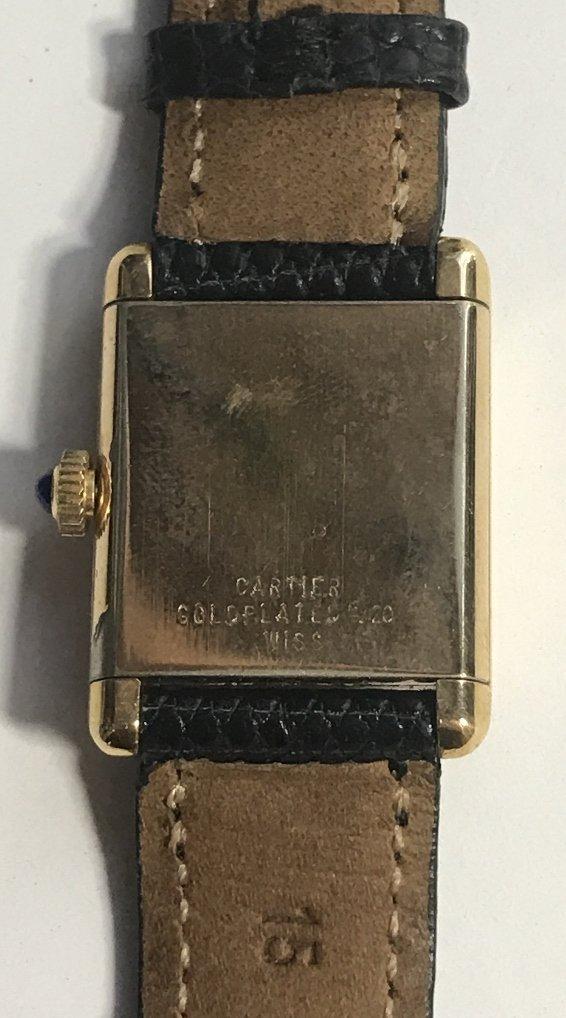 Cartier gold plated wristwatch - 9