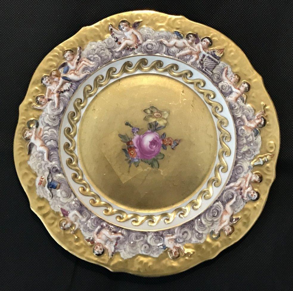 Four Capodimonte plates, c.1910 - 3