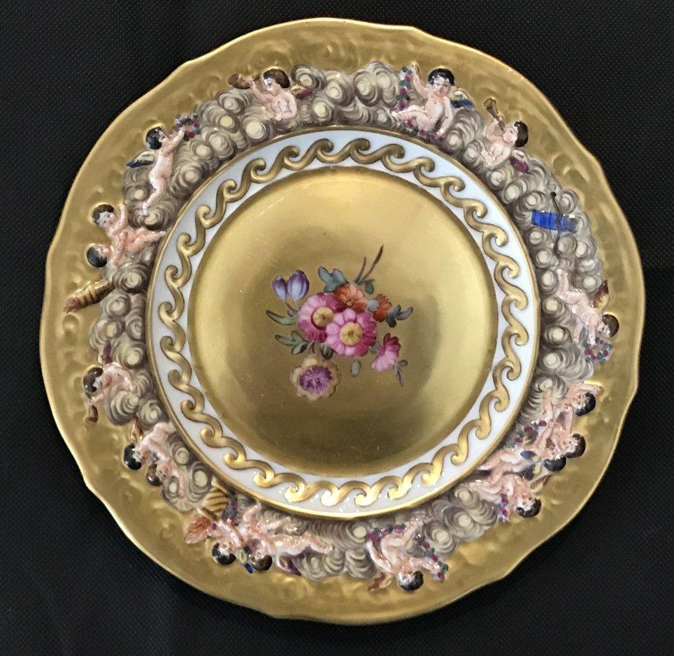 Four Capodimonte plates, c.1910 - 5